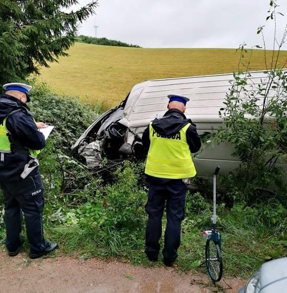 Wypadek w miejscowości Głęboki Rów w gminie Szypliszki