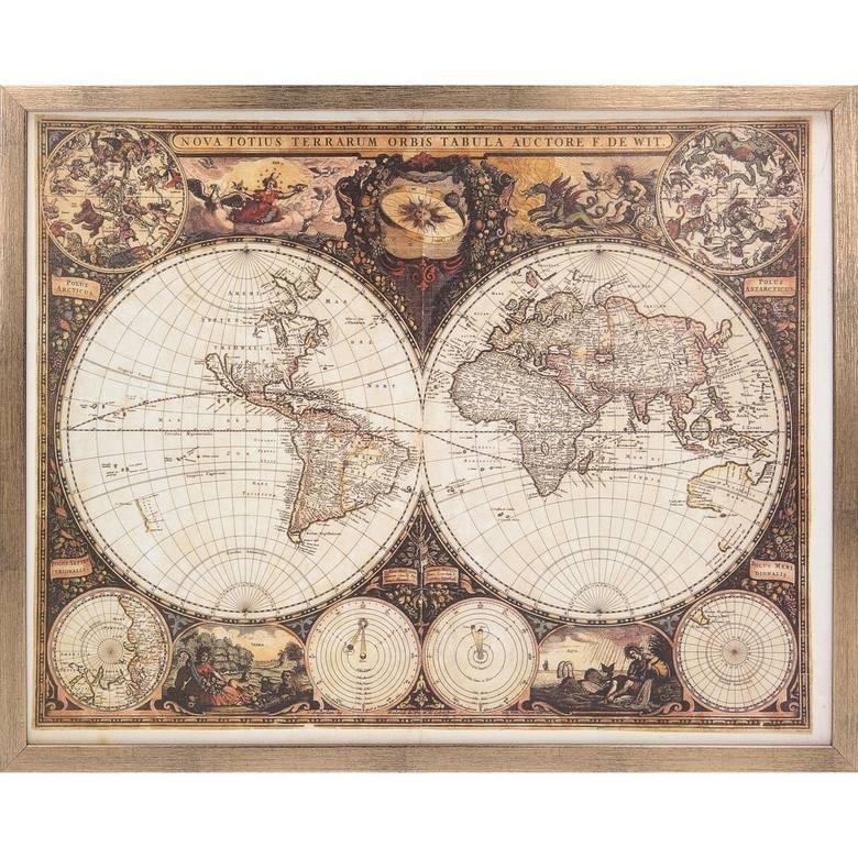 Mapa jako prezent na Dzień Ojca może być historyczna lub aktualna - wybór na rynku jest naprawdę duży.