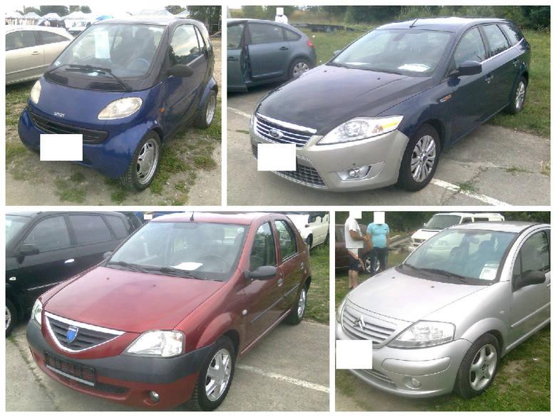 Samochody oferowane na giełdzie w Gorzowie.