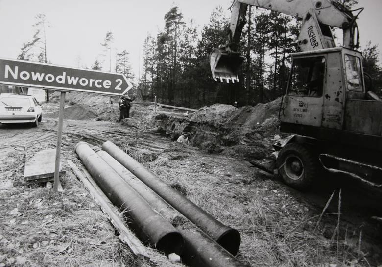 Budowa kanalizacji. Trasa Supraśl - Białystok.