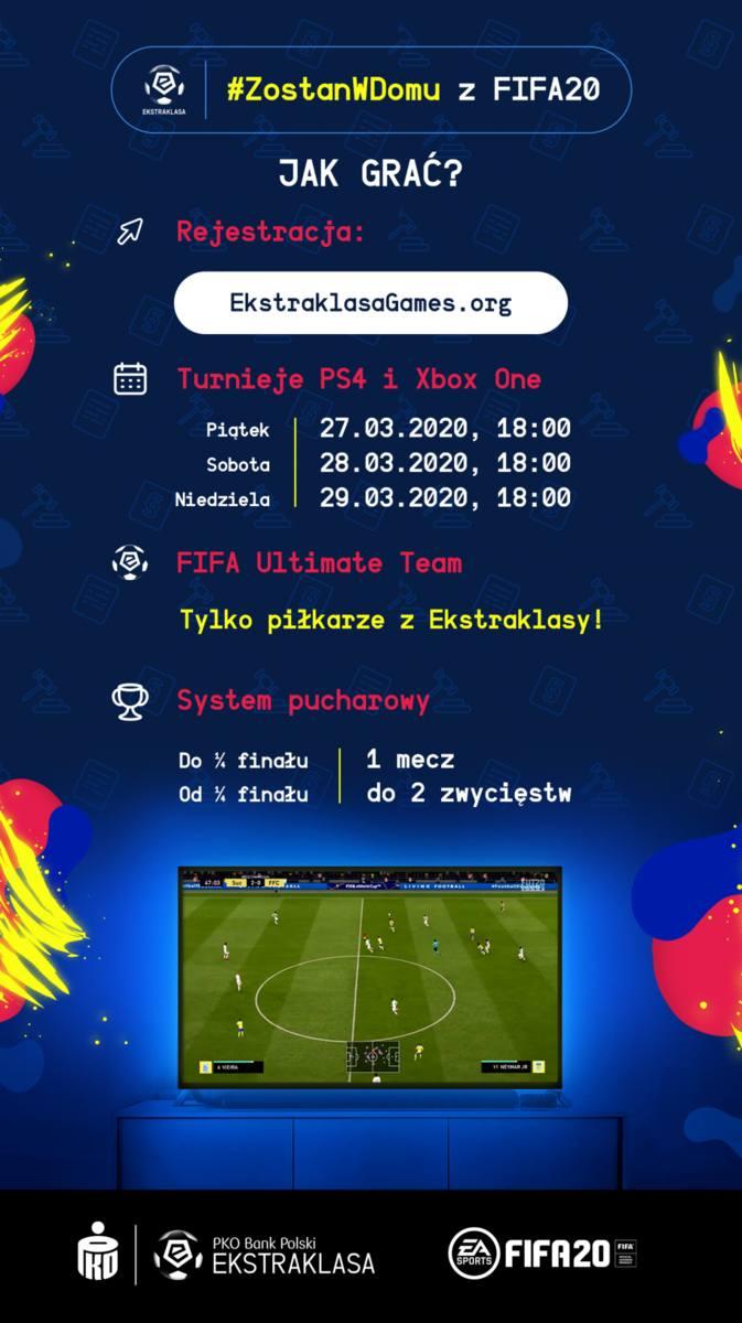 #ZostanWDomu zagraj w turnieju Ekstraklasy w FIFA 20!