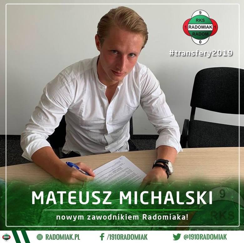 Mateusz Michalski zagra w Radomiu