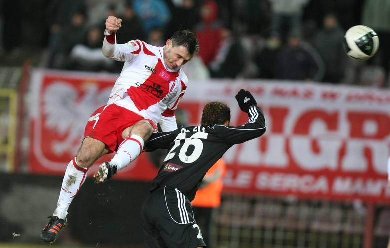 Marek Saganowski bardzo się starał, ale nie udało mu się zdobyć gola.