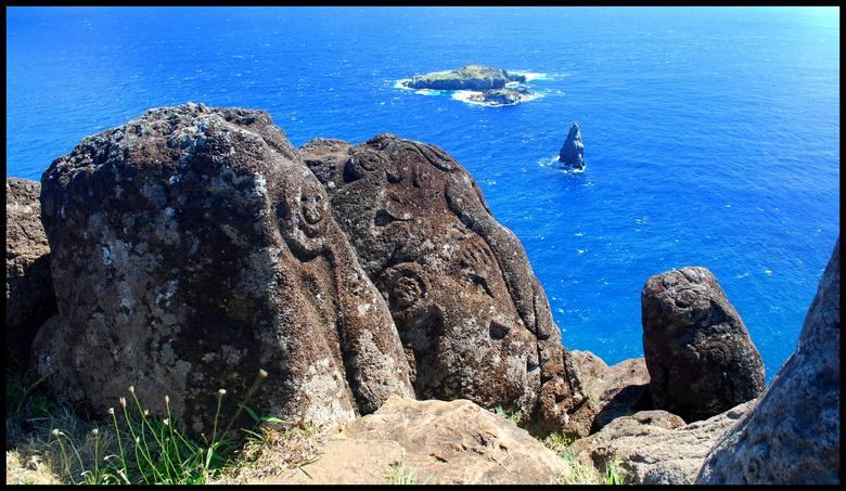Wyspa Wielkanocna - niezwykłe widoki i niesamowite miejsca. Na zdjęciu wizerunek Człowieka - Ptaka wyryty na skale w Orongo, dawnym centrum obrzędowym na południowo-zachodnim cyplu wyspy