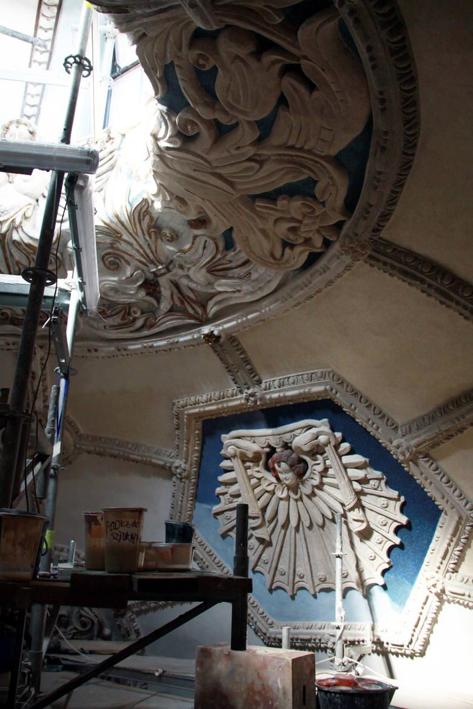 Sklepienie kaplicy Firlejów w bazylice oo. Dominikanów w Lublinie.