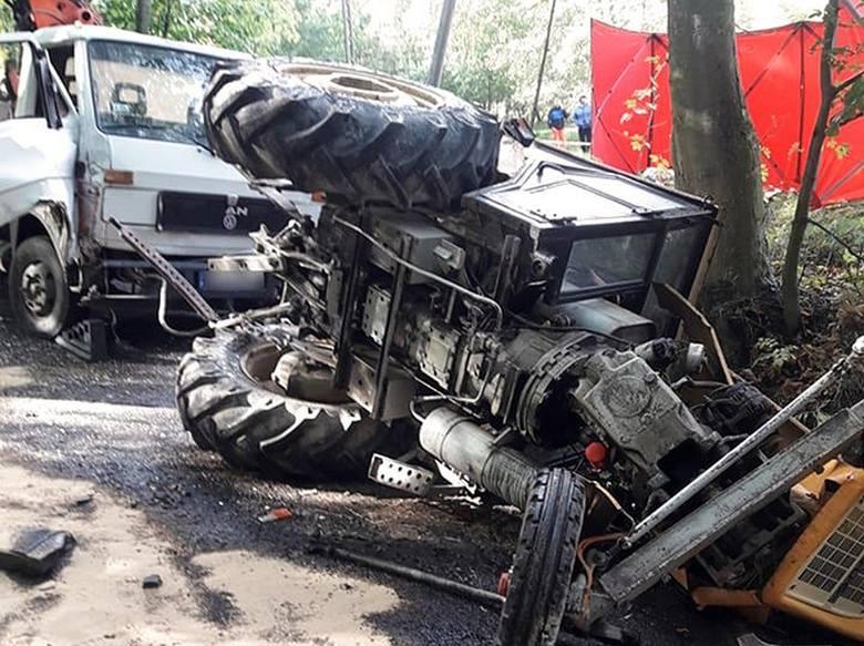 Śmiertelny wypadek. Zginął mężczyzna przygnieciony przez traktor