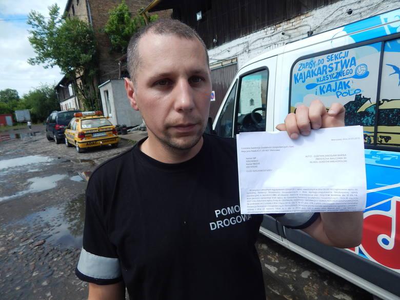 - W ciągu jednego dnia dostałem dwa takie wezwania - mówi Jarosław Baryła, który w Gorzowie ma firmę pomocy drogowej.