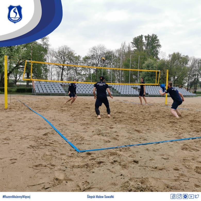 Siatkarze Ślepska Malow Suwałki często grają na piasku