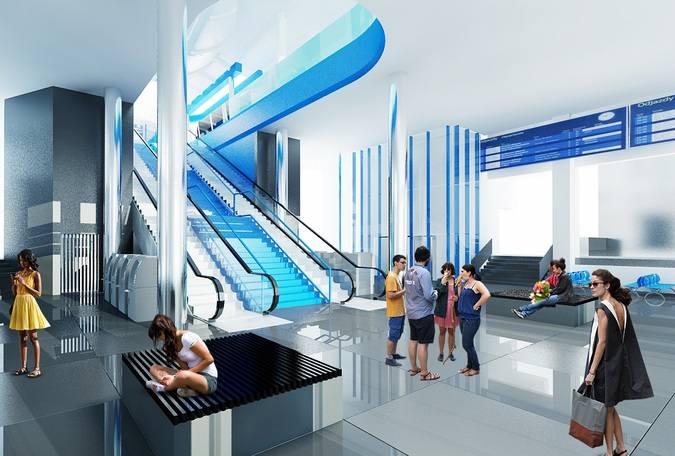Przebudowa dworca w Szczecinie. Będą ruchome schody i nowa kładka [WIZUALIZACJE]
