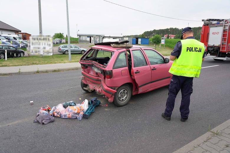 Na ul. Sienkiewicza w Szubinie zderzyły się dwa auta osobowe