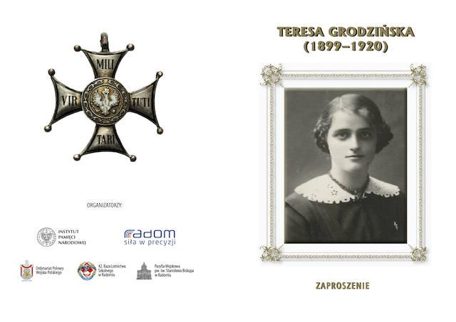 W kościele garnizonowym będą obchody 100. rocznicy śmierci Teresy Grodzińskiej, pierwszej kobiety odznaczonej Orderem Virtuti Militari