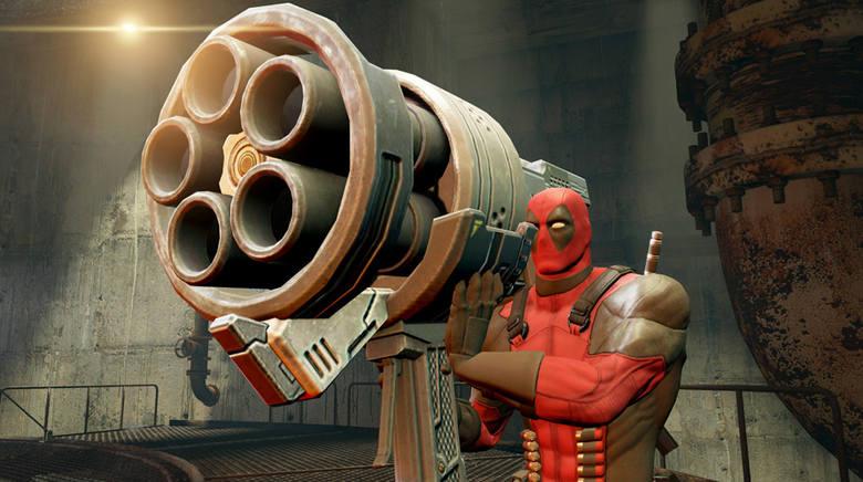 DeadpoolW Deadpool nie powinniście narzekać na brak oryginalnego uzbrojenia.