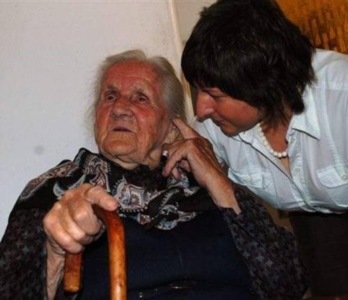 Do solenizantki przyjchała dziś m.in. wnuczka Sylwia.