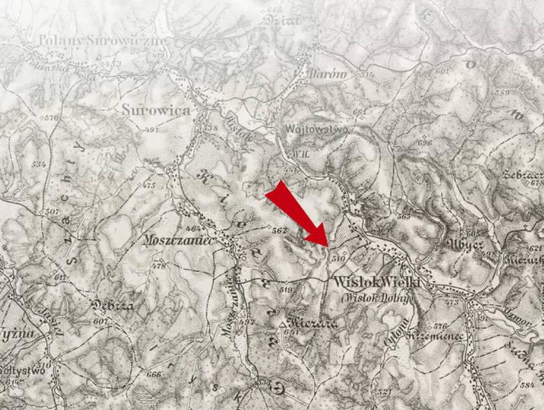 Opisywane miejsca i wydarzenia można będzie zlokalizować na mapie sztabowej z 1912 roku
