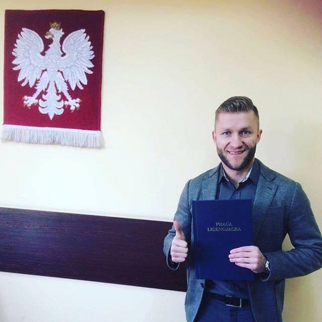 Jakub Błaszczykowski obronił pracę dyplomową z turystyki i rekreacji