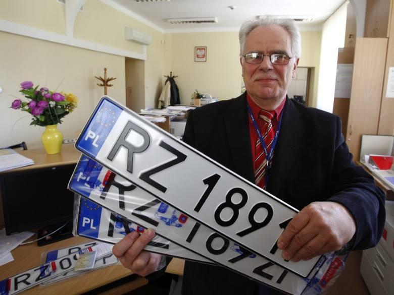 Krzysztof Wadiak, dyr. wydziału komunikacji Urzędu Miasta Rzeszowa: Na nowych tablicach rejestracyjnych nie będzie liter przypisanych do województwa