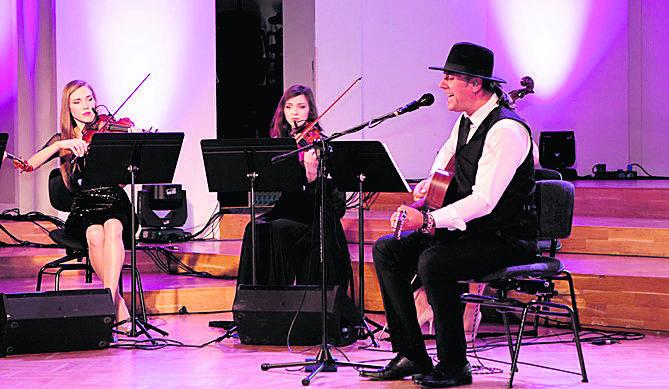 Naszą galę uświetnił występ Sebastiana Riedla, syna Ryszarda, z kwartetem orkiestry Aukso. Wybrzmiały piękne utwory zespołów Cree i Dżem