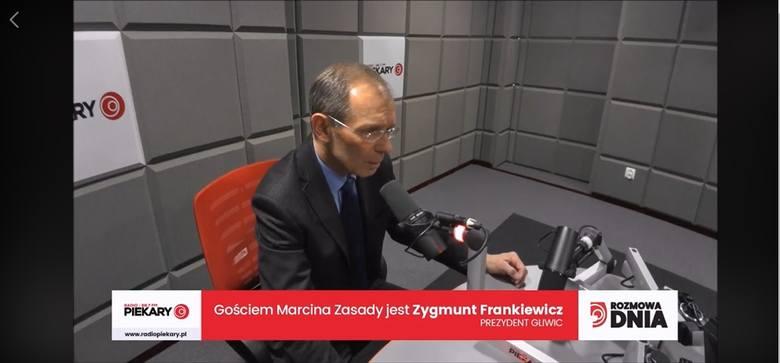 Zygmunt Frankiewicz, prezydent Gliwic jako Gość Dnia Dziennika Zachodniego i Radia Piekary