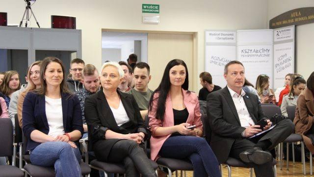 Alicja Dubniańska, Karina Zawada, Zuzanna Walczak i Grzegorz Barycki byli gośćmi tegorocznego wydarzenia na Politechnice Opolskiej.