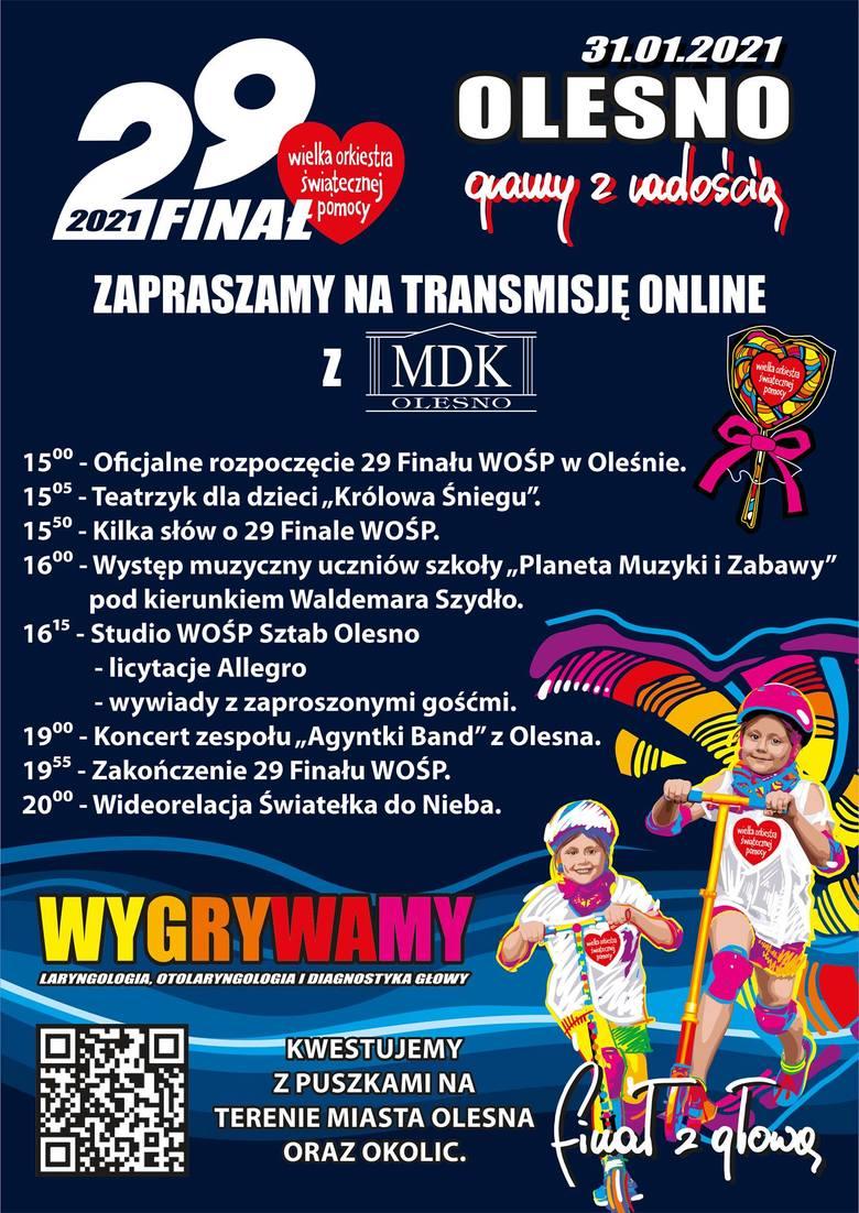 Program 29. finału WOŚP w Oleśnie