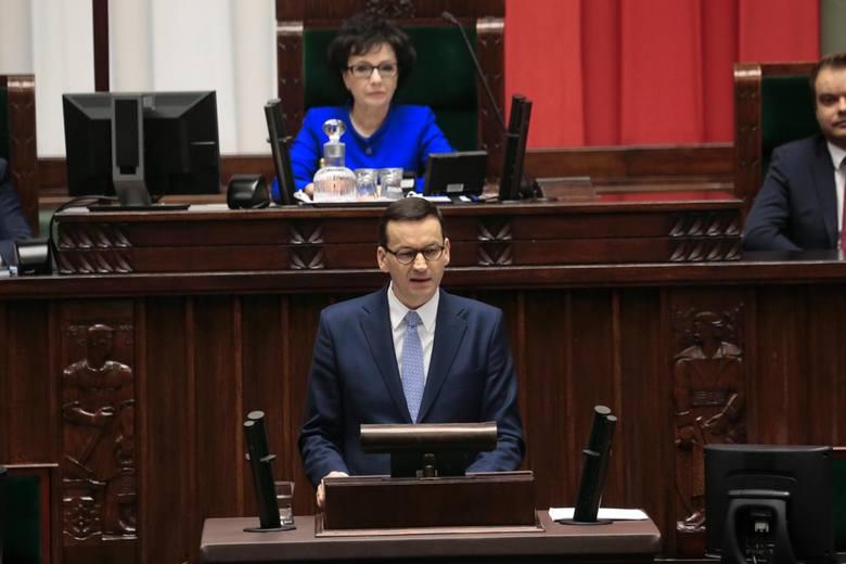 Expose premiera Morawieckiego w Sejmie