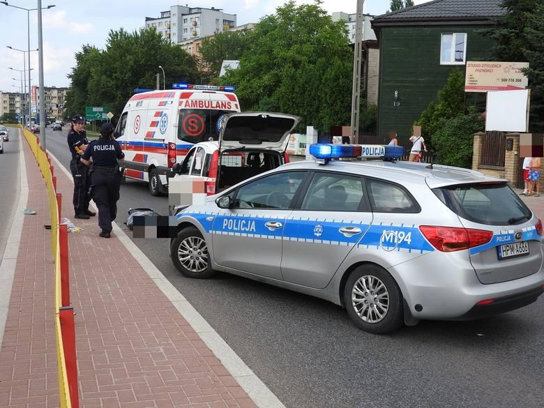 Śmiertelny wypadek na Hetmańskiej w Białymstoku. Piesza zginęła na przejściu niedaleko Auchan