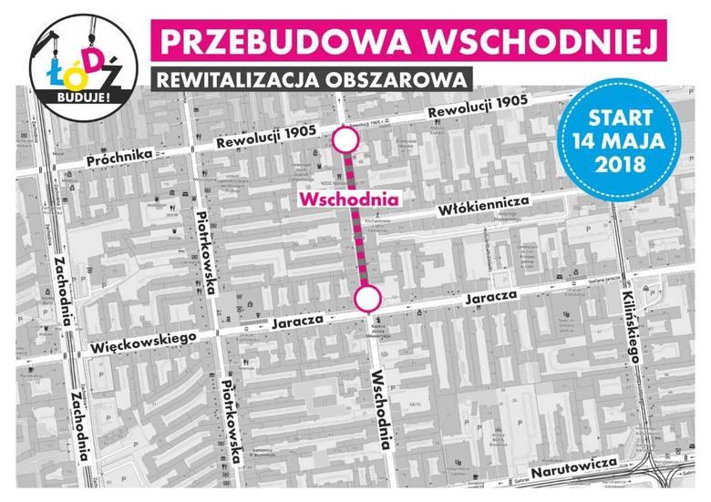 Zmiany organizacji ruchu w Łodzi. Ulica Wschodnia zostanie zamknięta dla ruchu, ale ma być lepszy przejazd przez skrzyżowanie marszałków