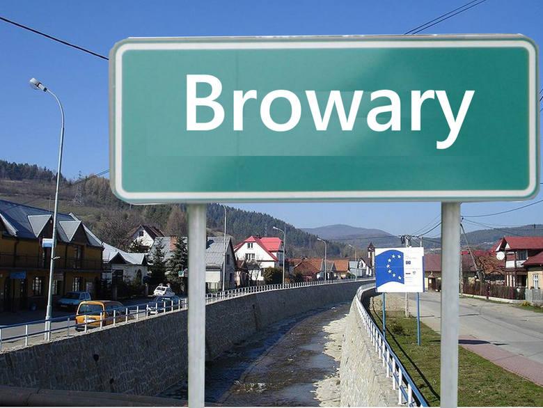 Browary to przysiółek, który jest częścią wsi Łącko w gminie Łącko w powiecie nowosądeckim. Łącko oraz cała gmina znana jest z sadów jabłkowych oraz