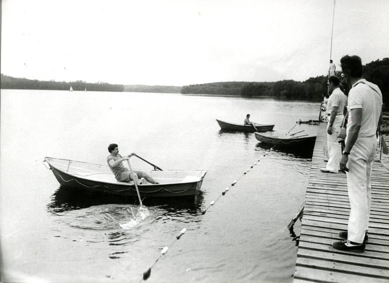 jezioro w Długiem w latach 80.