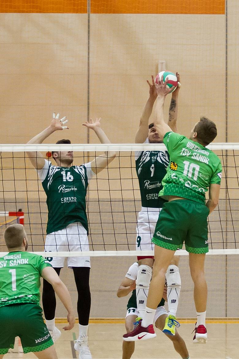 AZS Częstochowa wygrał w Sanoku z TSV 3:1 i zagra w półfinale play-off 1 ligi siatkarzy