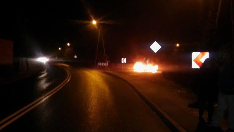 Auto spłonęło przy ul. Zielonogórskiej w Łagowie