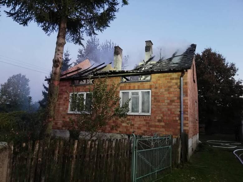 Po przyjeździe na miejsce okazało się, że cały dach jest w ogniu.