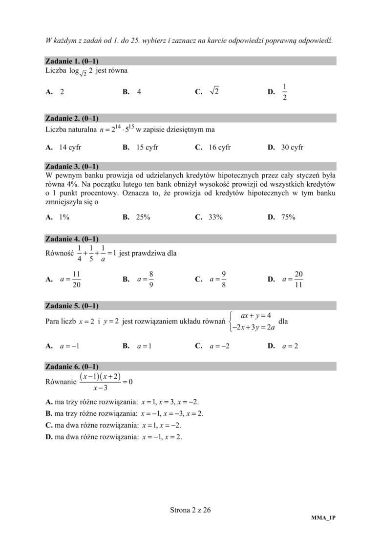 Co było na egzaminie maturalnym z matematyki Niestety nie wszystkie zadania siadły uczniom. Matura 2019: Matematyka PODSTAWA - Sprawdźcie tutaj.