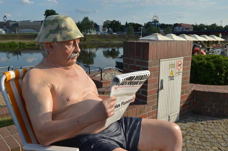 Janusz Gorzowski, mistrz plażingu bulwarowego, to jedna z atrakcji Gorzowa