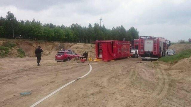 W akcji uczestniczyła specjalistyczna grupa ratownictwa chemiczno-ekologicznego z Konina i Ostrowa