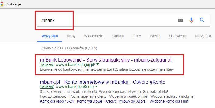Uwaga na fałszywą stronę mBanku! Przestępcy chcą wyłudzić dane osobowe i środki finansowe