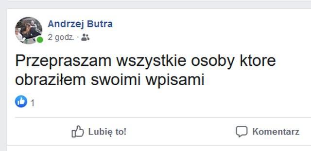 Wpisy Andrzeja Butry w internecie.