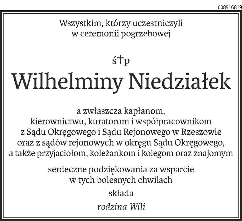 Nekrologi i kondolencje z dnia 22 lutego 2019 roku