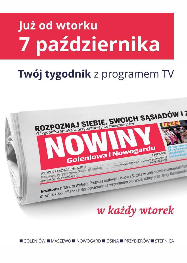 Nowiny Goleniowa i Nowogardu już od 7 października w każdy wtorek