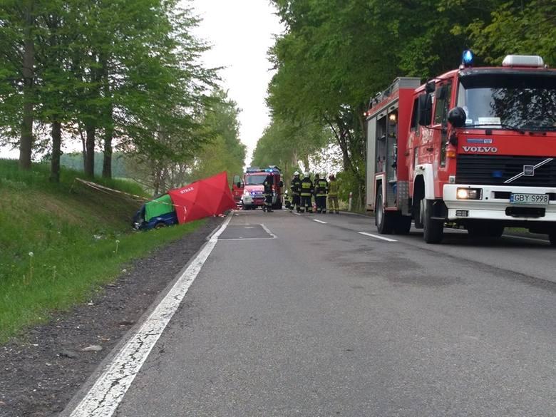 Śmiertelny wypadek koło Objezierza. Nie żyje kobieta [ZDJĘCIA]
