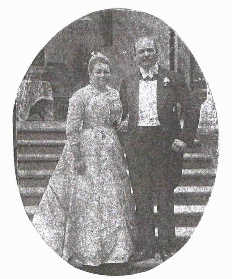 Feliks Bernard Erdmann II z żoną Heleną Augustą Bertą von Sprenger podczas srebrnych godów na Świerczu.