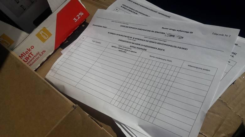 Ktoś wyrzucił do śmietnika w Koszalinie dużą ilość kart poparcia dla kandydatki na senatora w okręgu nr 99 (kołobrzesko-białogardzki). Karty -na szczęście-