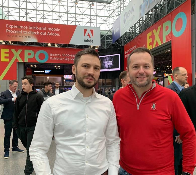 Od prawej Tomasz Blicharski i Michał Opacki Żabka Polska.