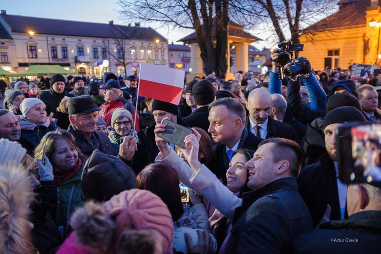 Andrzej Duda w Zakliczynie.