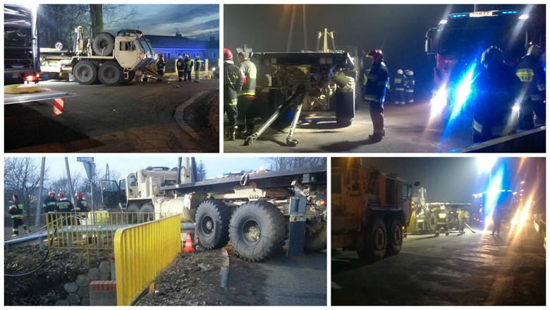 Ciężarówka, należąca do wojsk USA, które stacjonują w Lubuskiem, miała kraksę w Gorzowie. W aucie został uszkodzony bak paliwa.Czytaj więcej:www.gaz