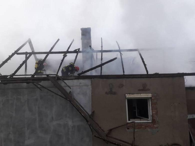 Złockie. Pożar domu jednorodzinnego. Prawdopodobną przyczyną było podpalenie [ZDJĘCIA]