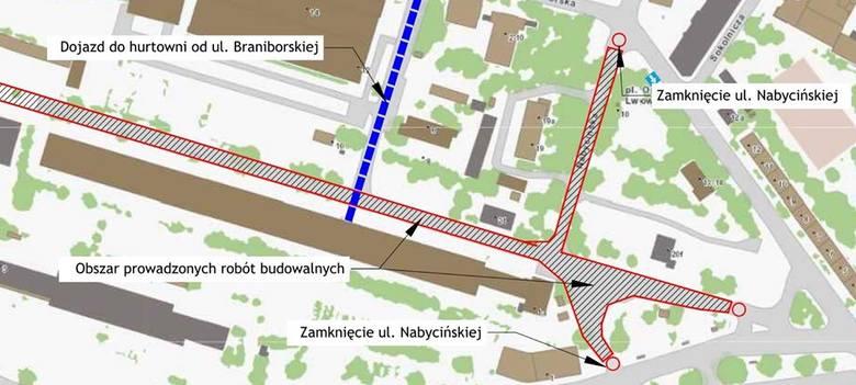 Rusza budowa tramwaju na Nowy Dwór. Od dziś zmiany w centrum