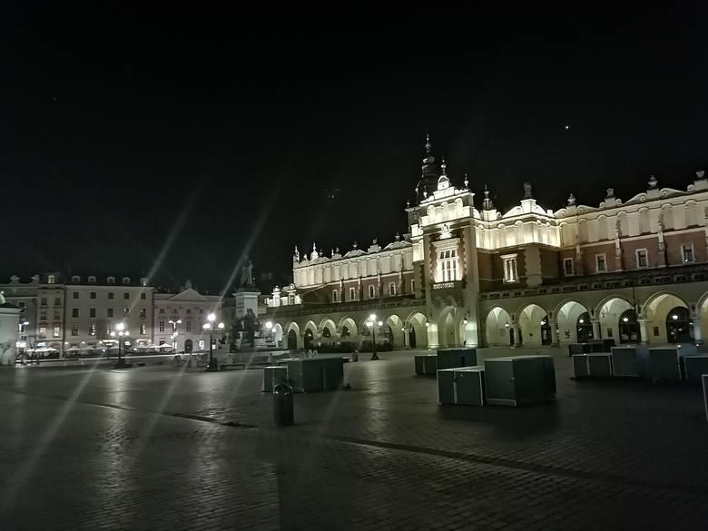 Rynek Główny, niedziela wieczorem