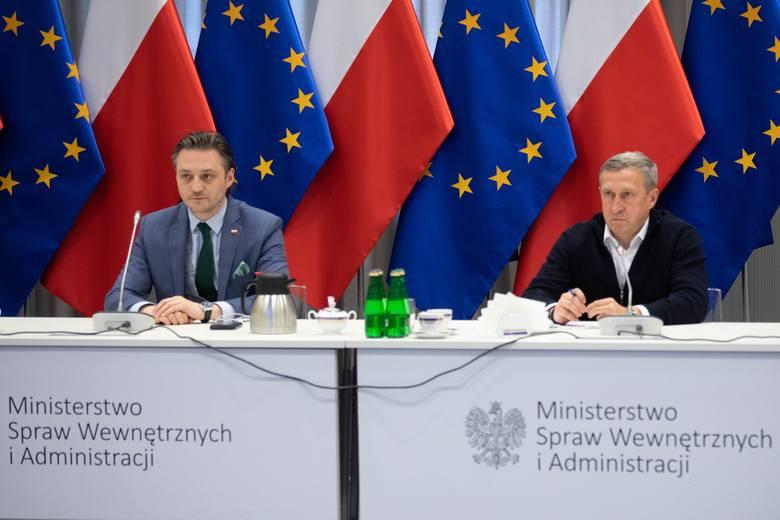 Wideokonferencja dotycząca zmian na granicy polsko-ukraińskiej.