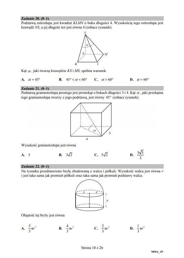 matura próbna nowa era 2021 matematyka odpowiedzi